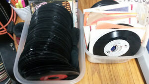 127 Vinyl Records - 45's **Scratched ones taken out