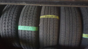 Two pairs of P265 65 17 all season tires