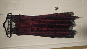 Prom Dress red and black