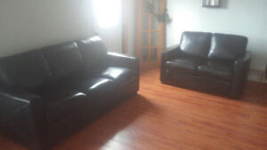 Leather Couch & Loveseat **Delivery Included**