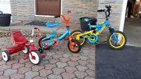 Very gently used bikes and trike