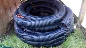 100' solid plastic drain pipe - NEW