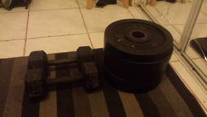 Plates and dumbells