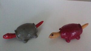 Turtles 1950's with bobbing heads and tails.
