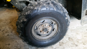 Stock tires and rims from 2016 Honda foreman