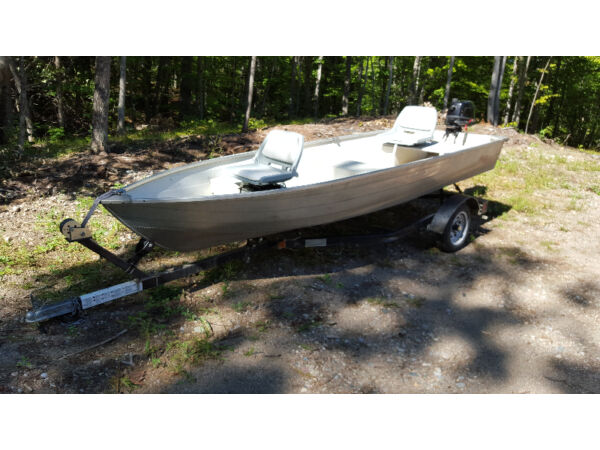 Used 2012 Other 14 ft alluminum boat motor and trailor