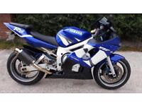 2002 (02) Yamaha R6 Super Sport, Blue Metallic, PX to Clear/Track Bike