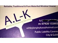 A.L-K window cleaning services £5 off 1st clean offer