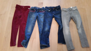 4 pairs of girls 6/7 pants for $5