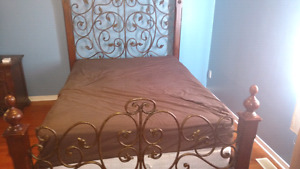 Queen bed frame and head board