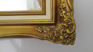 WALL MIRROR WITH A GOLDEN FRAME Peterborough Peterborough Area image 3