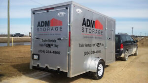 FOR RENT: 12' Enclosed Utility Trailer