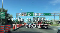 Rideshare from Laval to Toronto and back!