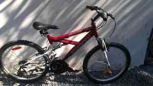 Vélo supercycle en aluminium 24 pouces double suspension 21 vite