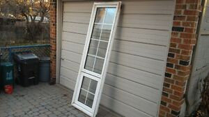 Vinyl window, top fixed, bottom awning