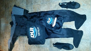 Scuba DUI TLS SE Drysuit Mens Large and Rockboots