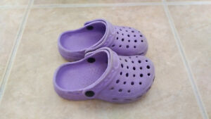 "Purple ""Crocs"", Toddler Girl, Size 7"