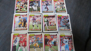 1991 Topps 1000 yard club NFL cards(26)