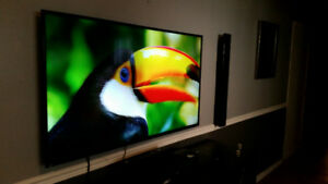 "Haier 55"" Full Hd 4K and Sony Home Theater System"