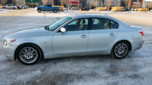2006 BMW 525i - 130,000 km with 2 set of rims and rubber
