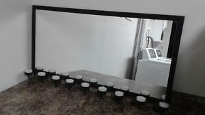 MIRROR WITH CANDLE HOLDERS