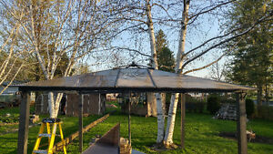 12 x 12 Gazebo With Roof Tiles