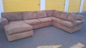 large microfiber sectional delivery included