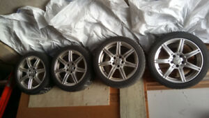 Mercedes Rims and Tires 225 45 17