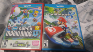 mariokart 8 and new super maro bros. + new super luigi