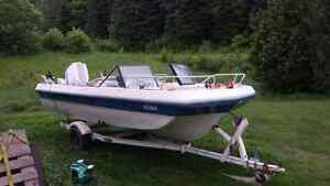 18 foot bowrider with 105 horse Chrysler outboard
