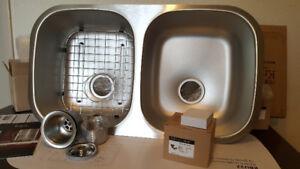 Kraus KBU22 32 inch Undermount 50/50 Double Bowl Sink