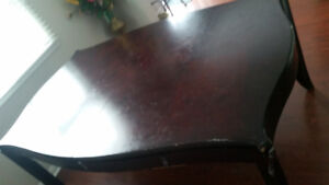 Dinning table set with 4 wooden chairs