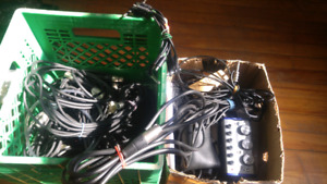 Musical goodies mystery box. Xlr, 1/4 inch, patch cables.