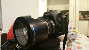 Canon 7 D mark ii with Canon 17-55 mm. F 2.8 lens