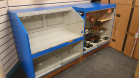 Shop Fitting Retail Glass Counter Display Cabinets x 4