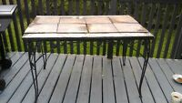 Iron table-outdoor