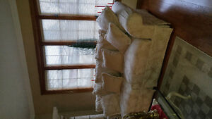 Cream Colour Patterned Couch Mint Condition