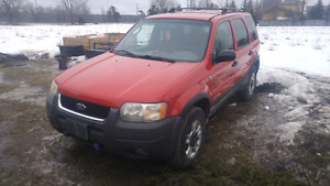 2001 ford escape xlt v6, 4 wheel drive