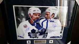 Doug Gilmour and Wendel Clark autographed 16x20