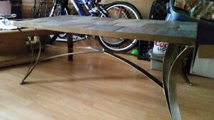 Custom made steel and stone table with additional granite top Campbell River Comox Valley Area image 3