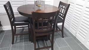 4 piece dining chair and table
