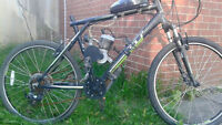 gt mountain bike with engine loking to trade for a pocket bike