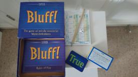 M&S Bluff board game