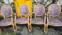 4 French Accent/Dining Chairs