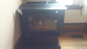 Brand new wood stove and wall support
