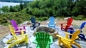 Adirondack Chairs (made from solid wood,2x4 legs)