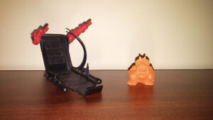 Ghostbusters kenner parts ecto-1 chair and orange ghost!