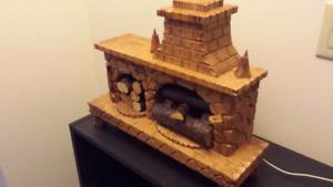 Quebec hard carved fireplace