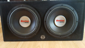 "2 12"" Boston G2 Subs and Ported Bassworx Box"