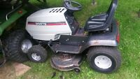 White lawn tractor